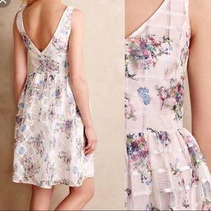Anthropologie white Maeve floral dress